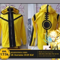 Jaket Distro Anime Anak Naruto Bijuu Mode Cosplay - JK Kurama Drill Ki