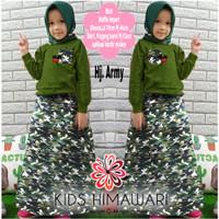 Himawari Kid Army/Gamis Anak Wafel Import/Baju Muslim Anak Perempuan