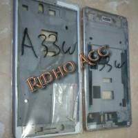 FRAME LCD TATAKAN LCD TULANG TENGAH BAZEL HP OPPO A33W NEO 7 ORIGINAL