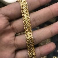 Rantai gelang tangan emas asli kadar 700 22 70 persen 3 g gr gram