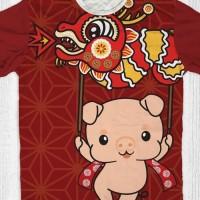 Baju tahun baru imlek sincia Babi (cute pig barongsai)