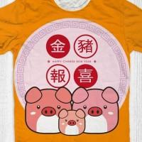 Baju tahun baru imlek sincia Babi (cute three pig)