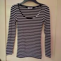baju kaos blouse lengan panjang garis pull & bear original branded