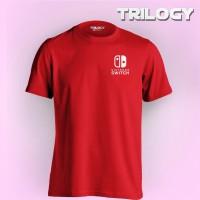 Kaos Premium Brand TRILOGY Game Nintendo Switch Logo Tshirt - Merah, S