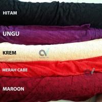 Kain bahan brukat renda brokat rachel lace bahan gaun/kebaya aplikasi - Maroon