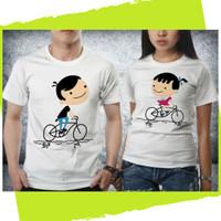 Baju Pakaian Kaos Couple Anniversary Wedding Valentine - H74