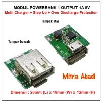 Modul Powerbank 1 OUTPUT 1A 5V Over Discharge Protection