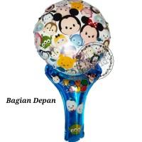 Balon Pentung Tsum Tsum / Balon Tongkat / Balon Ulang Tahun / Foil
