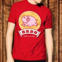 Imlek 2019 Cina Tahun Baru New Year Babi 3 Kaos T-shirt Tshirt T Shirt