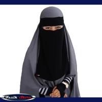 Niqob Cadar Bandana Jilbab Syar'i Terbaru Anti Singkap Tahan Badai-TS