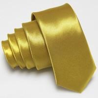 dasi panjang pria polos import gold emas ukuran slim 2 inch / 5 cm