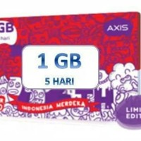 Voucher Isi Ulang Kuota Data Axis 1 GB Mini 7 Hari Reguler Nasional