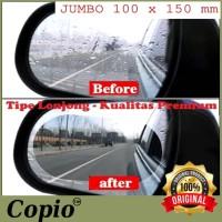 AntiFog Spion Mobil Motor Rainproof Film JUMBO 10x15cm OVAL ORIGINAL