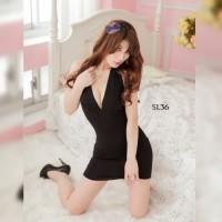 Sleep Wear Dress Night Gown Lace Transparan Wanita Sexy Lingerie SL36