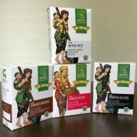 beras organik 100% Bahan Makanan Bubur Nasi Tim MPASI Bayi Anak KHA23