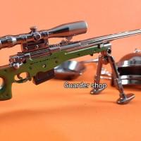 Gantungan kunci PUBG model AWP sniper panjang 17cm.high quality
