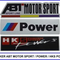 PROMO STICKER DEPAN ABT MOTOR SPORT / POWER / HKS POWER KUALITAS BAGUS