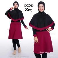 Baju renang perempuan muslim dewasa baju renang wanita anak remaja 1 - Z04, M