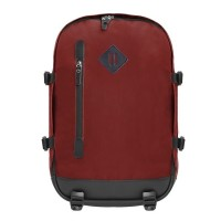 Tas Backpack Bag Kanvas Laptop Pria Wanita Mochilo Decimo Maroon WA1