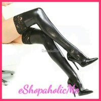 Jual BS00156 Lingerie Leather Latex stocking bodyfit baju ti Diskon