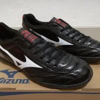 Jual Sepatu Futsal Mizuno Monarcida Black - TURF Diskon