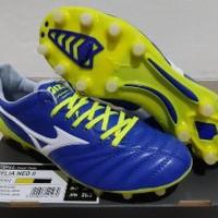 Sepatu Bola - Soccer Mizuno Morelia Neo II Leather Blue Berkualitas
