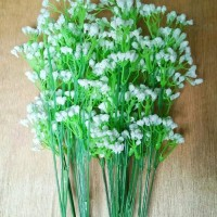 bunga hias/rumput hias/bunga rumput/baby breath/rumput plastik/bunga