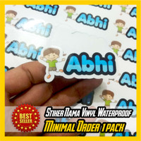 Cetak Stiker label Nama WATERPROOF