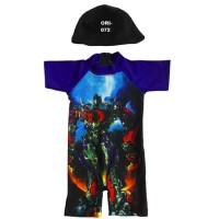 Baju Renang Bayi Karakter Transformer Merah - Tosca - Biru - K072
