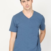 Guardian V Neck Slub T3 Graphic T-Shirt in Navy