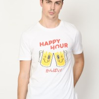 Happy Hour Graphic T-Shirt in White
