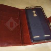Lenovo Vibe K6 Power - Elegant Retro Leather Flip Case Cover mewah