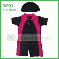 Baju Renang Pakai Topi Untuk Bayi Laki 6-24 Bulan Lis Warna