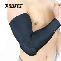Aolikes 7046 Elbow Arm Sleeve -Pelindung Siku basket Lari Bike BLACK