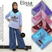 Baju Setelan Anak Perempuan Muslim Atasan Kulot Elissa Set