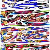 Striping Mio sporty Sticker Decal variasi kartun