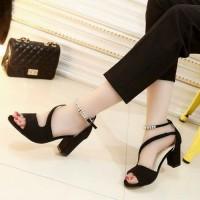 Sandal Wanita High Heels Hak Tahu SDH163