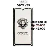 Tempered glass 5D Vivo Y95 anti gores screen guard full cover layar tg
