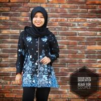 Blous Batik Wanita Lengan Panjang Murah / Seragam Blouse Batik Wanita