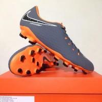 Sepatu Bola Nike Phantom 3 Academy FG Dark Grey Orange AH7271-081 Ori
