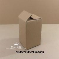 kardus/karton/box uk. 10x10x16 cm untuk packing , MP