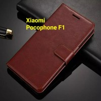 XIAOMI POCOPHONE F1 CASING LEATHER FLIPCOVER WALLET CASE BACK COVER