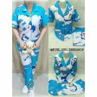 TERBARU!Erlina.Fashion Piyama Wanita & Baju Tidur Jepang Doraemon awan