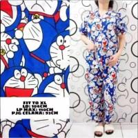 TERBARU.Erlina.Fashion Piyama Wanita & Baju Tidur Motif Doraemon Tumpu - Biru