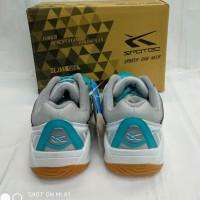 sepatu badminton anak SPOTEC MAX SCORE tosca white 33-36 original -