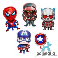 Balonasia Paket 5pcs Balon Foil Karakter Avenger