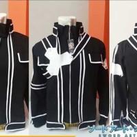 Jaket anime Sword Art Online Kirito Hitam Cosplay Black Jacket