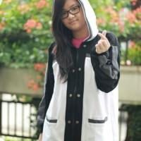 Jaket hoodie kirito ordinal scale Anime Cosplay Putih Sword art online
