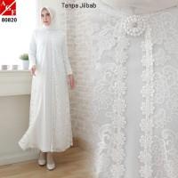 Sale Baju Gamis Wanita Brokat Putih Lebaran Haji Umroh Promo #80820
