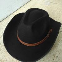 topi fedora cowboy laken ranger sheriff